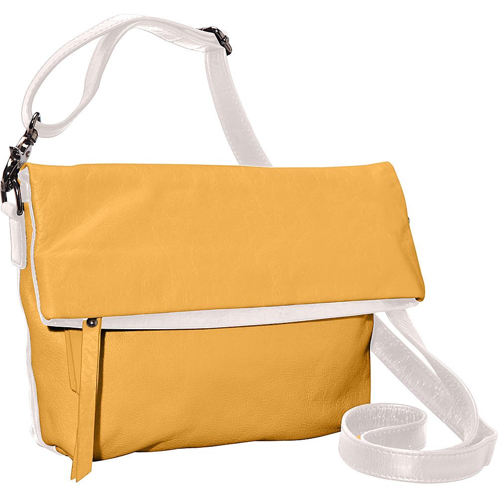 Latico Leathers Thandie Crossbody Metallic White/Gold - Latico Leathers Leather Handbags - Handbags, Leather Handbags