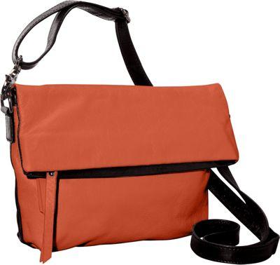Latico Leathers Thandie Crossbody Salmon/Espresso - Latico Leathers Leather Handbags