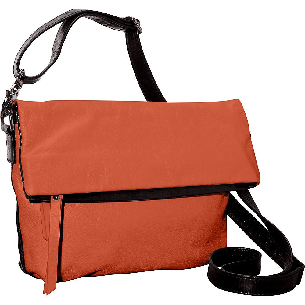 Latico Leathers Thandie Crossbody Salmon/Espresso - Latico Leathers Leather Handbags - Handbags, Leather Handbags