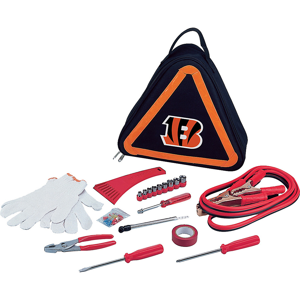 Picnic Time Cincinnati Bengals Roadside Emergency Kit Cincinnati Bengals - Picnic Time Trunk and Transport Organization - Travel Accessories, Trunk and Transport Organization