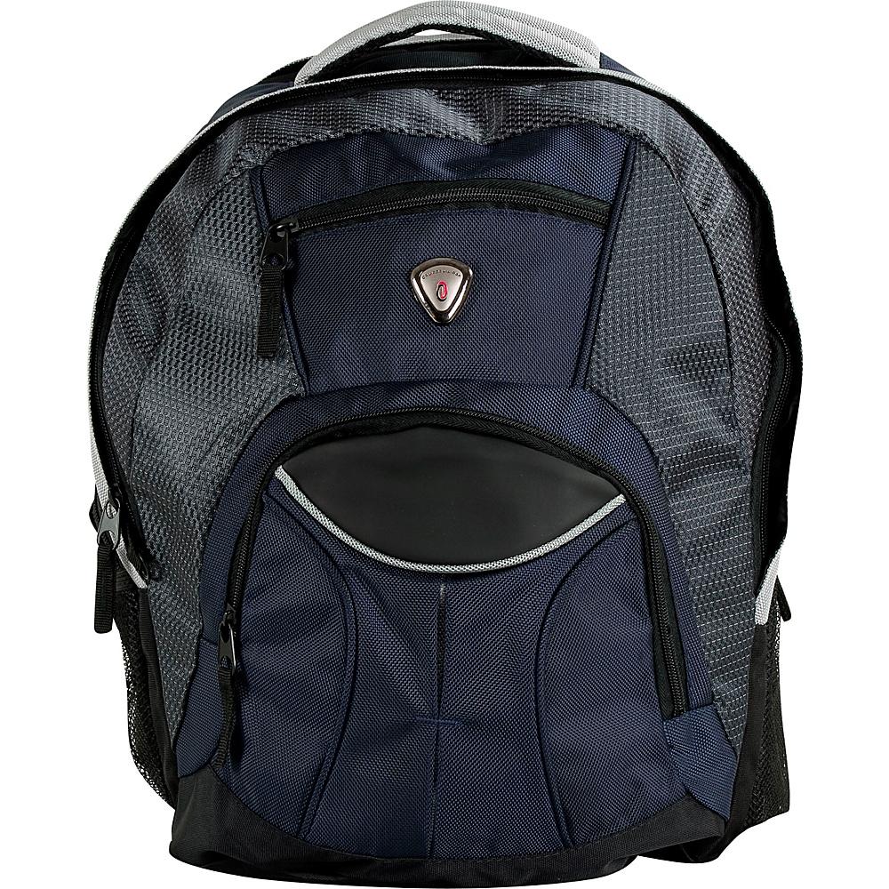 CalPak Mentor 17-inch Deluxe Laptop Backpack Navy Blue - CalPak Laptop Backpacks