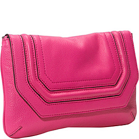 Zoey Pebble Clutch Hot Pink