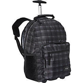 "Newport Trolley Backpack - 15.6"" Grey Plaid"