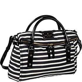 Kate Spade Nylon Stripe Small Leslie Black/Cream