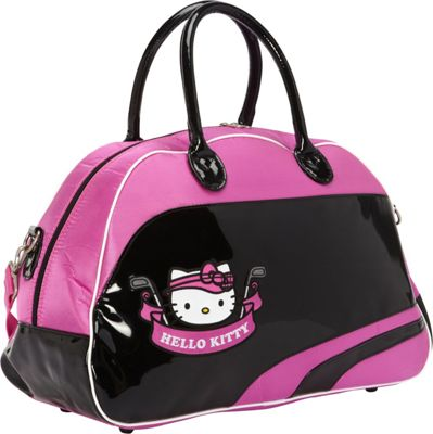 Hello Kitty Golf Hello Kitty Golf  inchMix & Match inch Boston Bag Black/Pink - Hello Kitty Golf Gym Duffels
