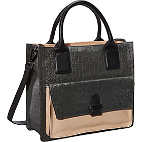 Belt One Back Croco Satchel Ash Grey