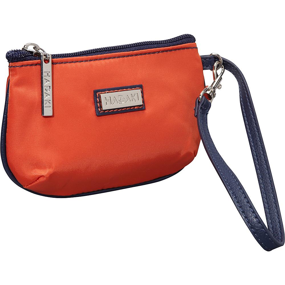 Hadaki Nylon ID Wristlet Orange/Navy - Hadaki Fabric Handbags - Handbags, Fabric Handbags