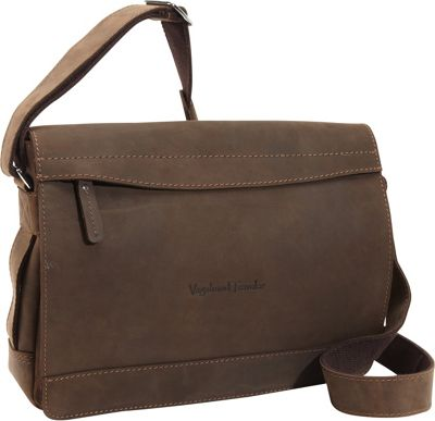 Vagabond Traveler Signature Oil Tanned Leather Messenger Vintage Brown - Vagabond Traveler Messenger Bags