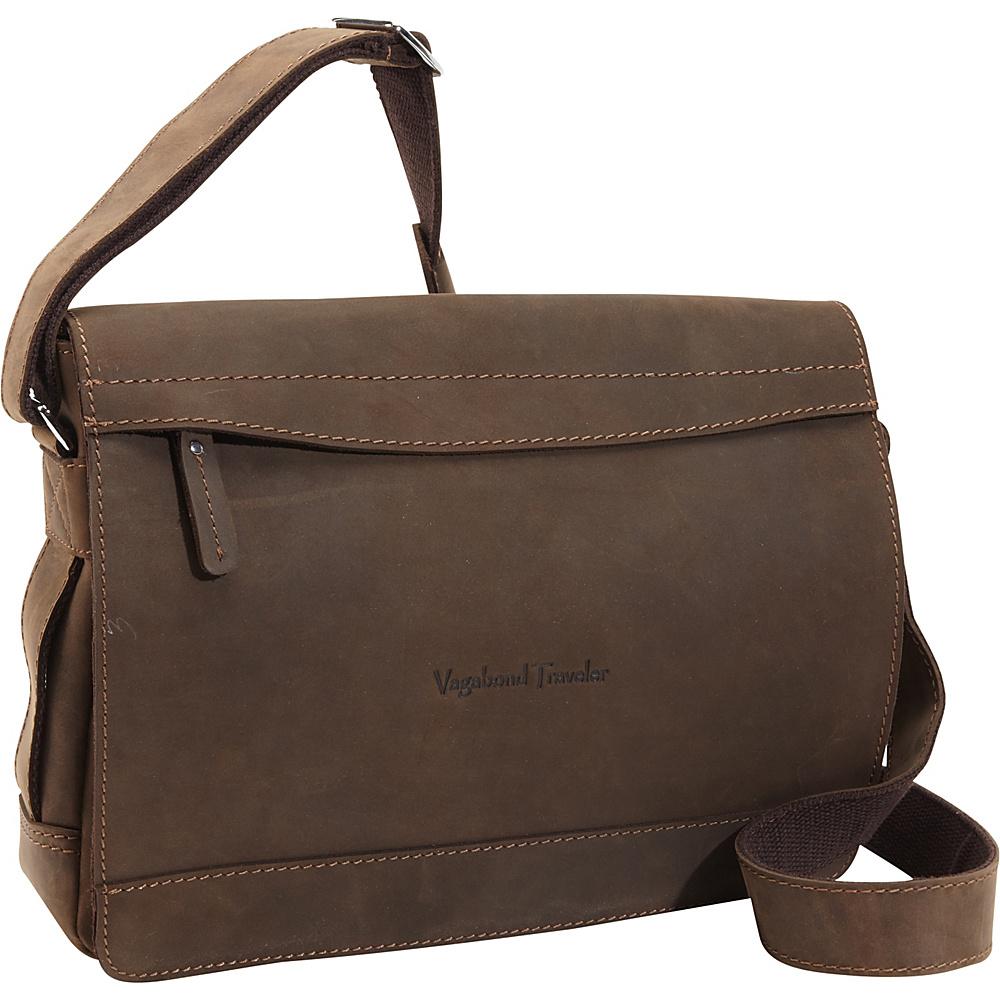 Vagabond Traveler Signature Oil Tanned Leather Messenger Vintage Brown - Vagabond Traveler Messenger Bags - Work Bags & Briefcases, Messenger Bags