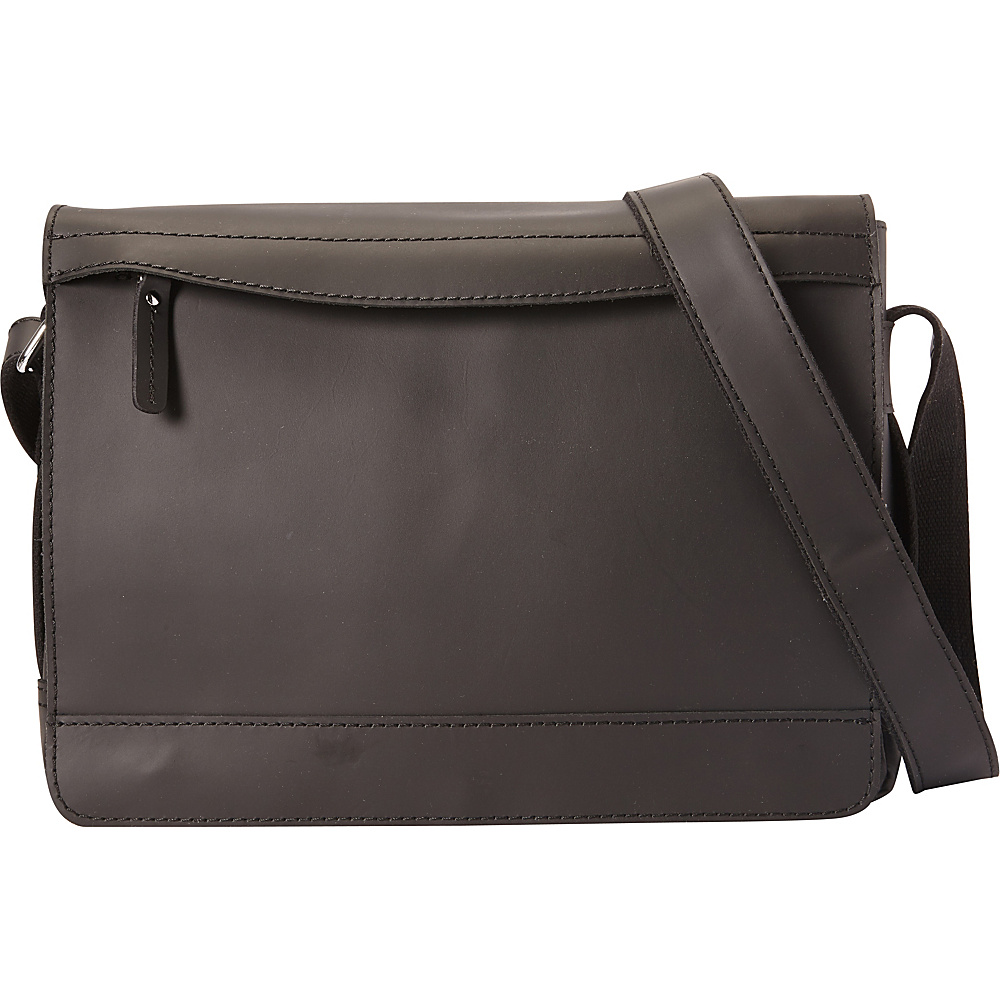 Vagabond Traveler Signature Oil Tanned Leather Messenger Black - Vagabond Traveler Messenger Bags - Work Bags & Briefcases, Messenger Bags