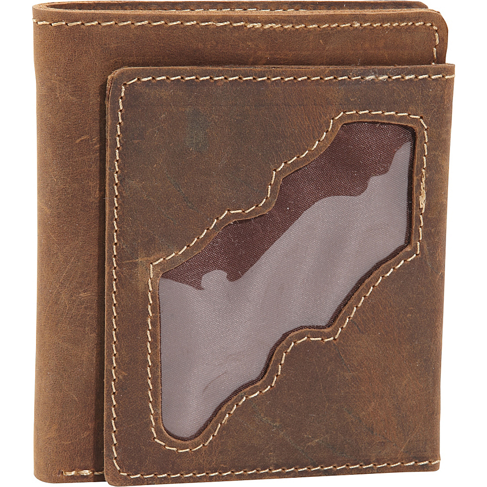 Vagabond Traveler WANDERER 4 - Classic Leather Bifold Wallet Vintage Brown - Vagabond Traveler Mens Wallets - Work Bags & Briefcases, Men's Wallets