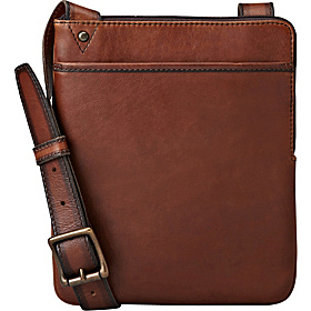 Estate Leather Courier iPad Bag Cognac