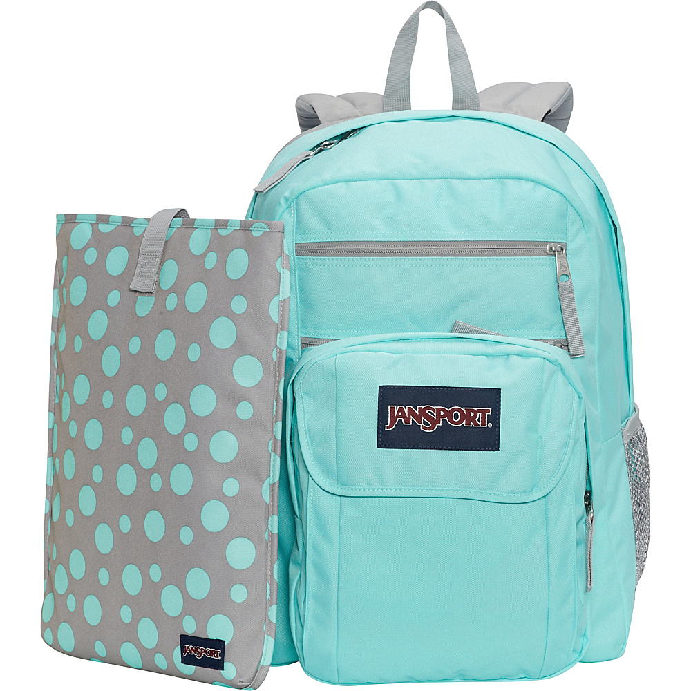 JanSport Digital Student Laptop Backpack Grey Rabbit Sylvia Dot - JanSport Laptop Backpacks - Backpacks, Laptop Backpacks