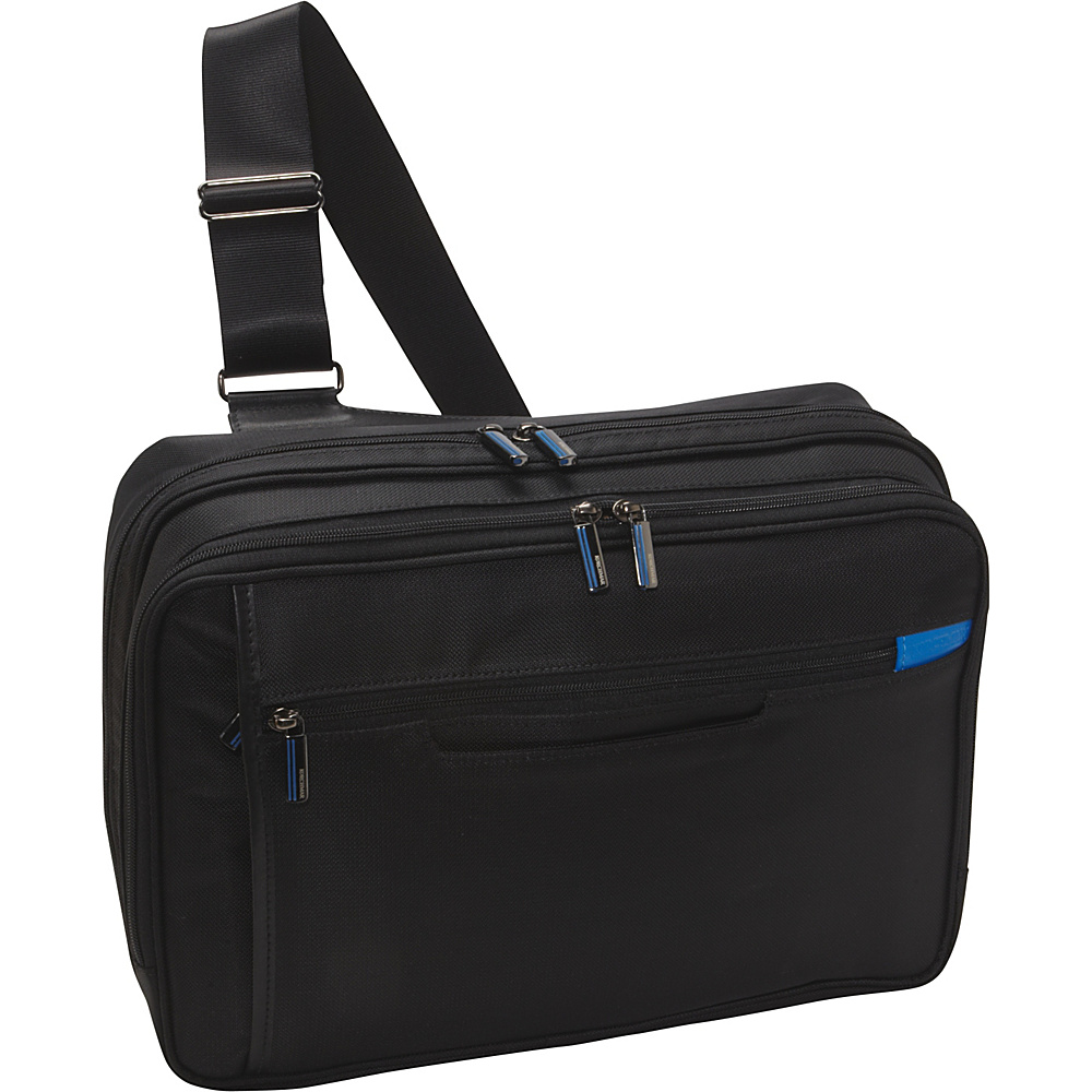 Korchmar LINCOLN Zippered Laptop Messenger Bag Black - Korchmar Non-Wheeled Computer Cases
