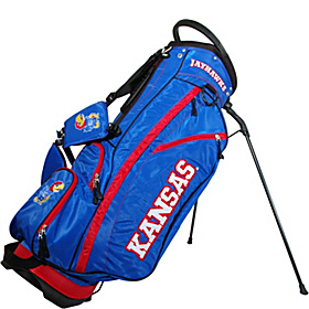 NCAA University of Kansas Jayhawks Fairway Stand Bag Blue