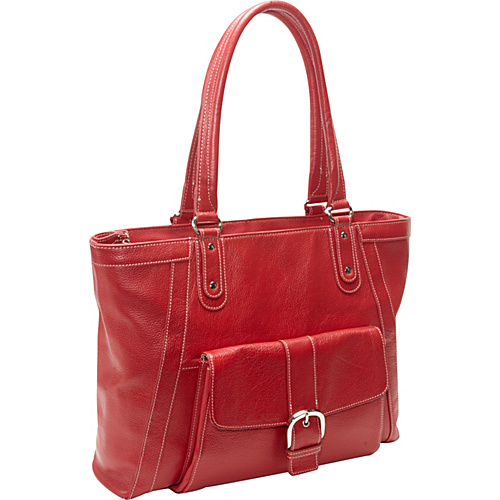 eBags Laptop Collection Soho Deluxe Leather Laptop Tote Red - eBags Laptop Collection Ladies' Business