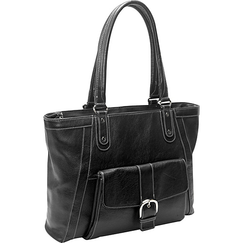 eBags Laptop Collection Soho Deluxe Leather Laptop Tote Black - eBags Laptop Collection Ladies' Business
