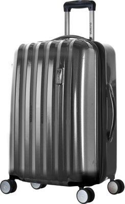 Olympia USA Titan Hardside 25 inch Spinner Black - Olympia USA Hardside Checked