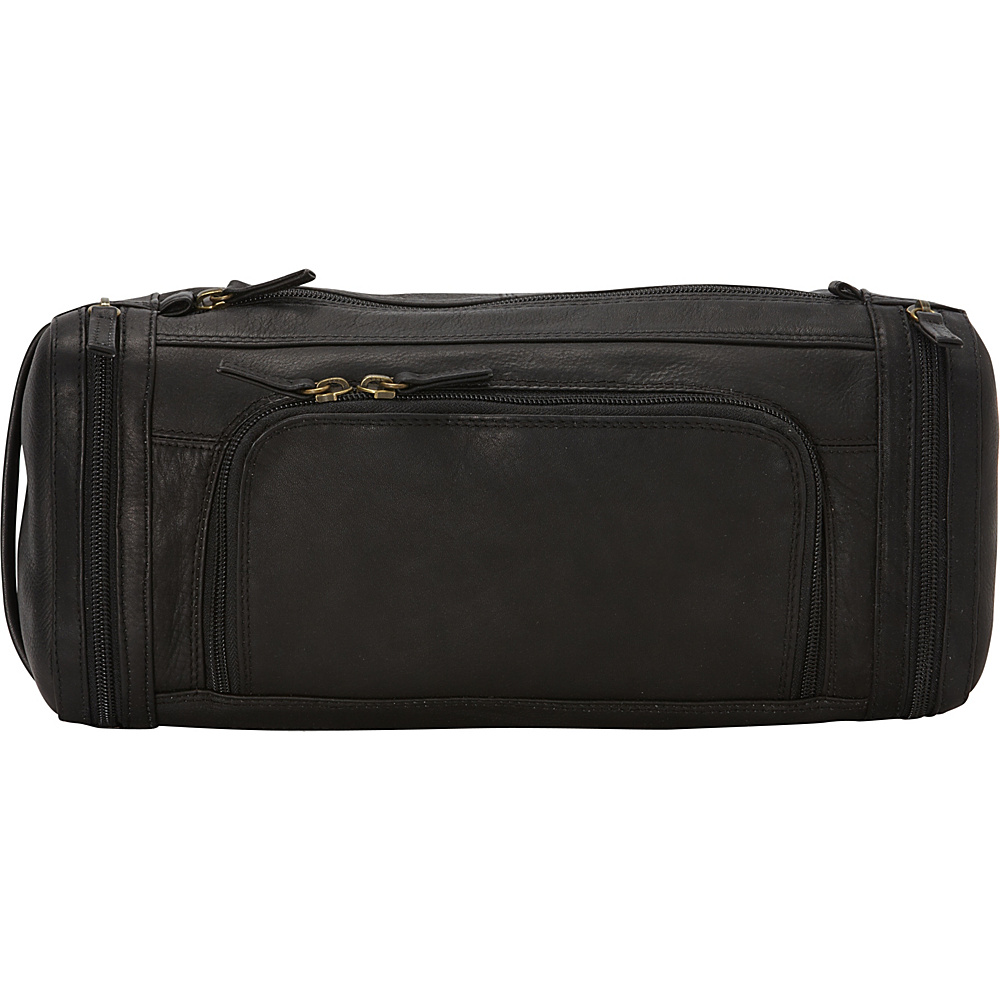 Derek Alexander Large Zippered Travel Kit Black - Derek Alexander Toiletry Kits - Travel Accessories, Toiletry Kits