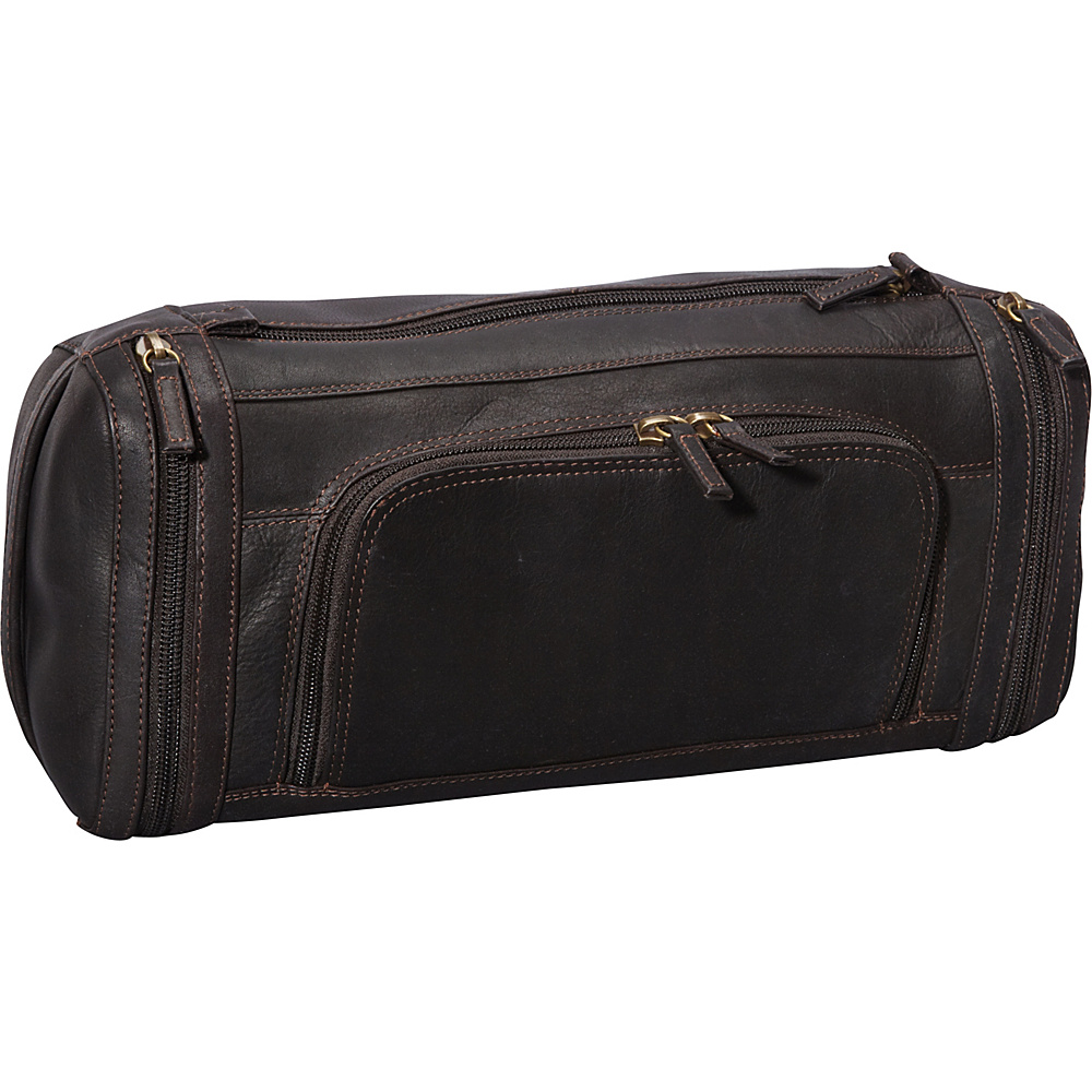 Derek Alexander Large Zippered Travel Kit Brown - Derek Alexander Toiletry Kits - Travel Accessories, Toiletry Kits