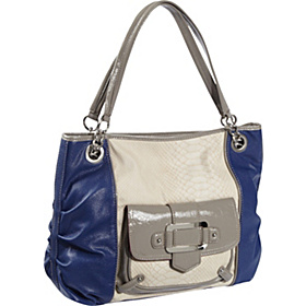 Color Story Large Shopper Deep Blue/Dove Grey/Bone
