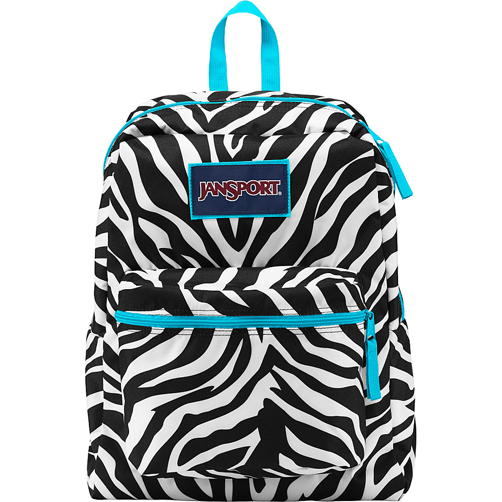 JanSport Overexposed Backpack Miss Zebra / Mammoth Blue - JanSport School & Day Hiking Backpacks - Backpacks, School & Day Hiking Backpacks