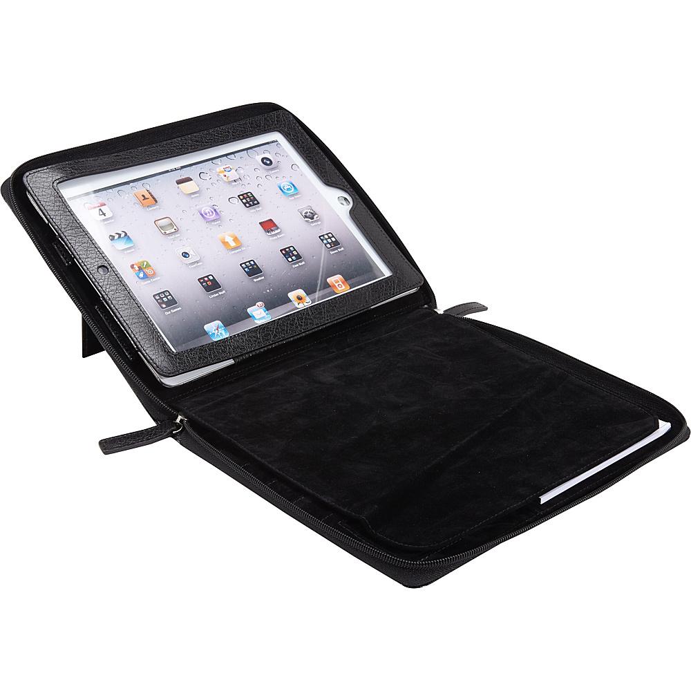 Bellino Zip Around Noteworthy Case - New iPad and iPad 2 Black - Bellino Electronic Cases