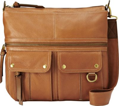 Fossil Morgan Top Zip Saddle - Fossil Leather Handbags