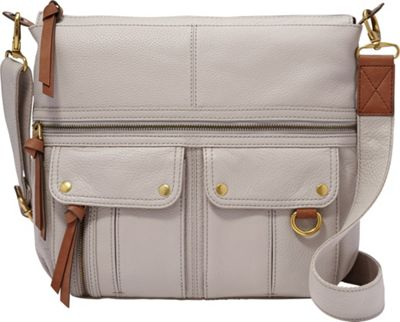 Fossil Morgan Top Zip Mineral Gray - Fossil Leather Handbags