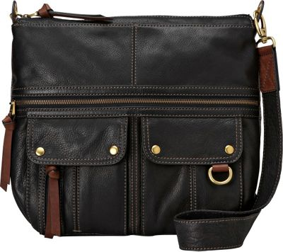 Fossil Morgan Top Zip Black - Fossil Leather Handbags