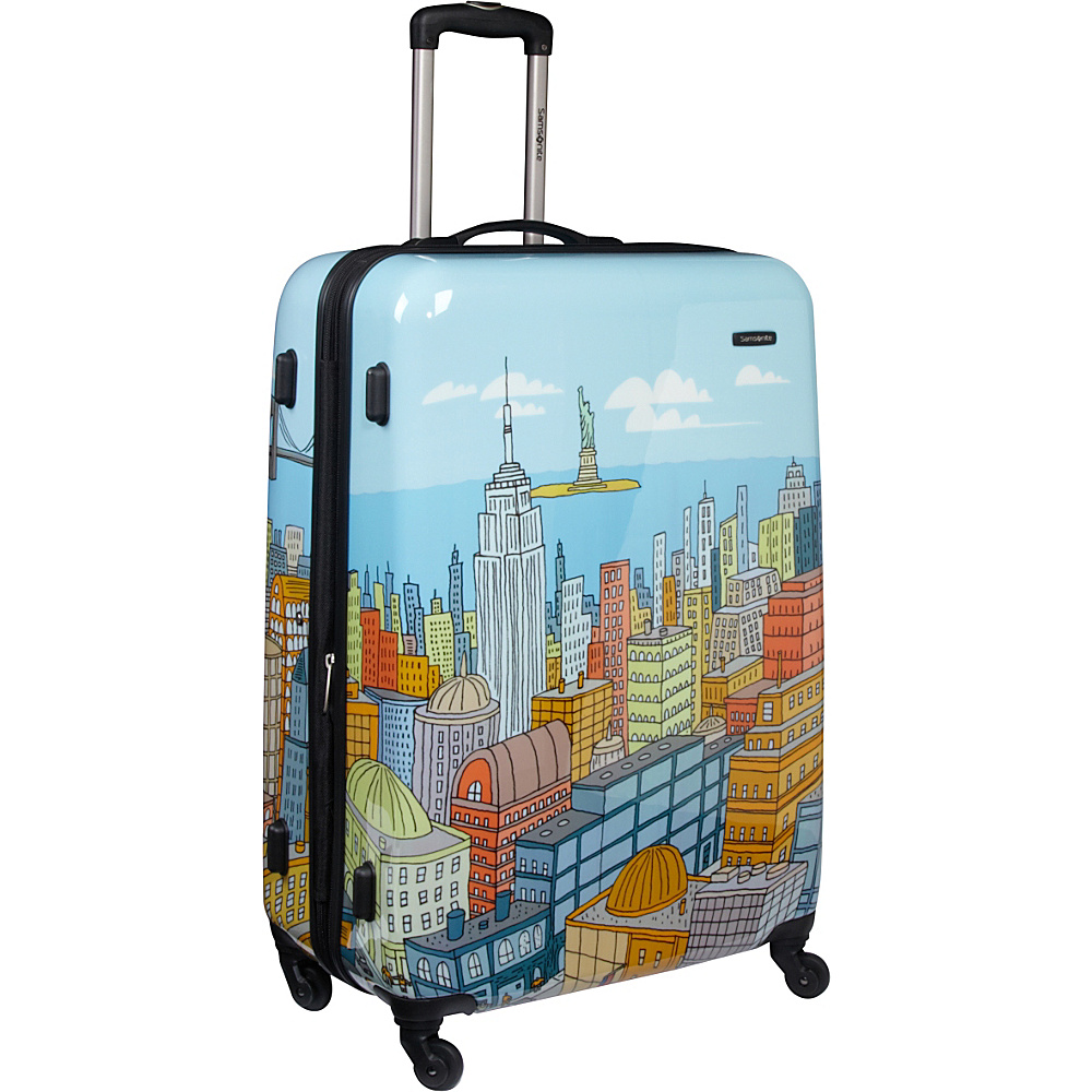 "Samsonite CityScapes Spinner 28"" Blue Print - Samsonite Hardside Checked"