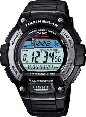 Casio Men's Solar Runner Tough Solar Multi-Function Runner Watch Black - Casio Watches