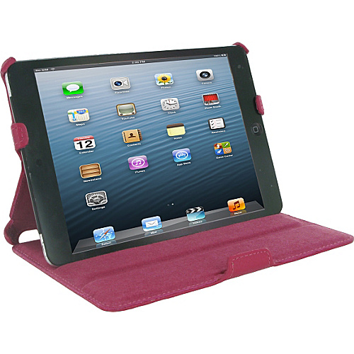 rooCASE Slim-Fit Folio Case for iPad mini Magenta - rooCASE Laptop Sleeves