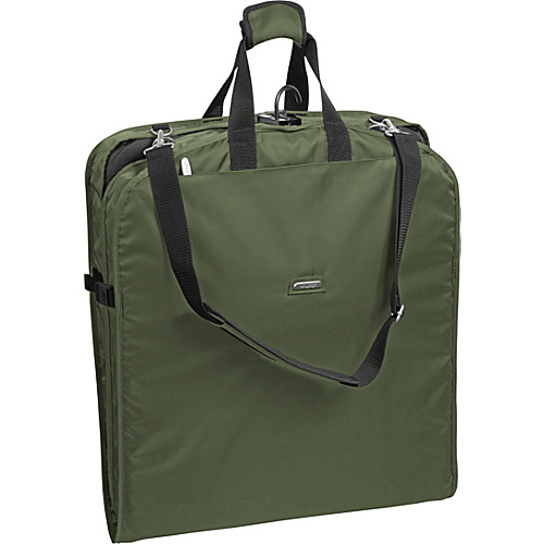 "Wally Bags 42"" Shoulder Strap Garment Bag Olive - Wally Bags Garment Bags"