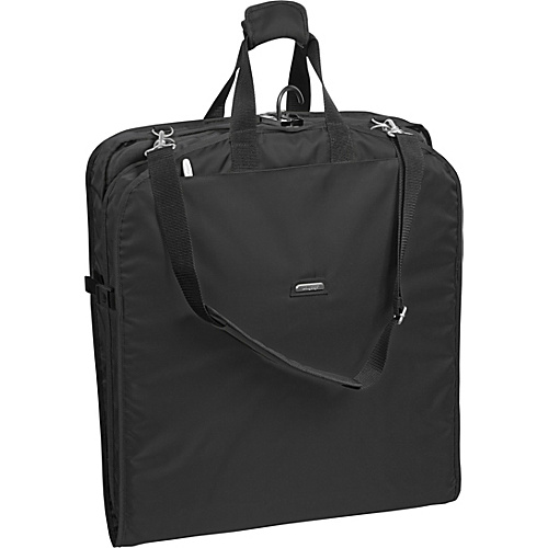 "Wally Bags 42"" Shoulder Strap Garment Bag Black - Wally Bags Garment Bags"