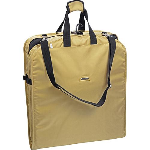 "Wally Bags 42"" Shoulder Strap Garment Bag Khaki - Wally Bags Garment Bags"