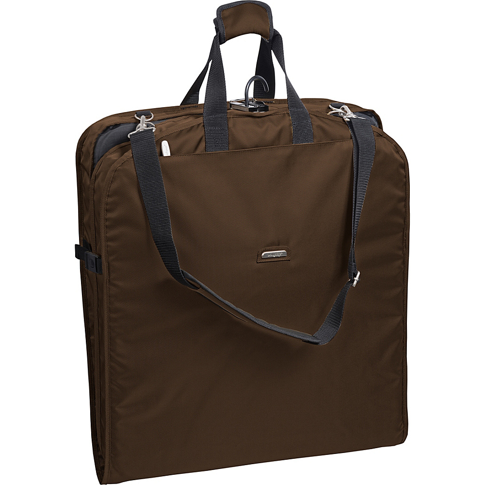 "Wally Bags 42"" Shoulder Strap Garment Bag Brown - Wally Bags Garment Bags"