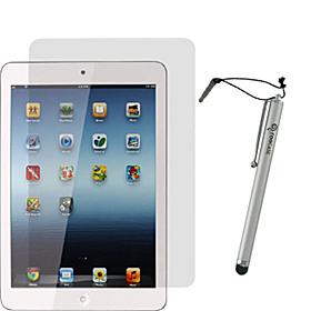 4-Pack Screen Protectors w/ Stylus for iPad Mini Silver