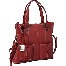 Point of Interest Foldover Crossbody Glam Red