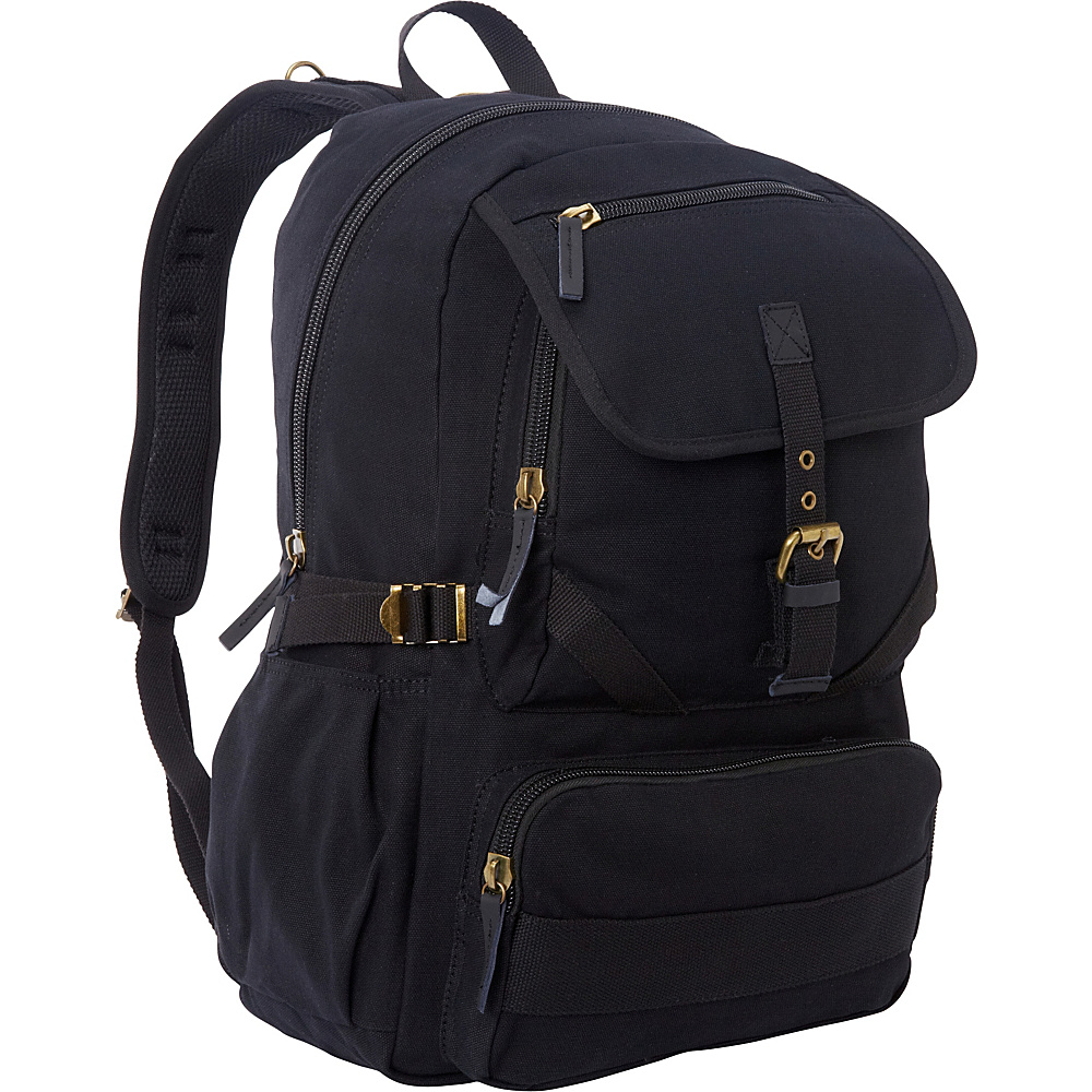 Vagabond Traveler Sport Canvas Backpack Black - Vagabond Traveler Everyday Backpacks - Backpacks, Everyday Backpacks