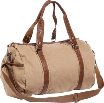 Vagabond Traveler Large Canvas Shoulder Travel Bag Khaki - Vagabond Traveler Other Men's Bags