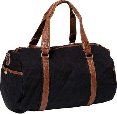 Vagabond Traveler Large Canvas Shoulder Travel Bag Black - Vagabond Traveler Other Men's Bags