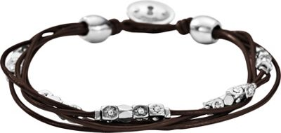 Fossil Vintage Iconic Leather Bracelet Silver with Brown - Fossil Other Fashion Accessories