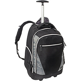 Sports Voyage Rolling Backpack Black/Platinum