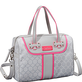 On Cloud 9 Medium Satchel Grey Mist/White/Hot Magneta