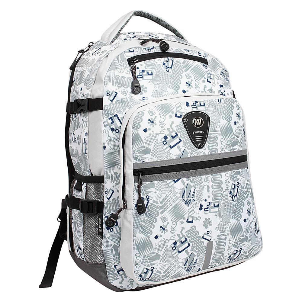 J World New York Cloud Laptop Backpack Blinker White - J World New York Laptop Backpacks - Backpacks, Laptop Backpacks