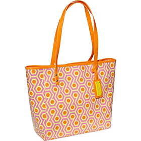 Beach Bound Large Tote Magenta Multi/Orange Peel/Lemon