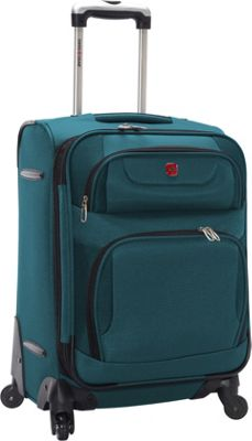 SwissGear Travel Gear Expandable Spinner Luggage - 20 inch Teal with Black - SwissGear Travel Gear Softside Carry-On