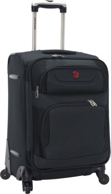 SwissGear Travel Gear Expandable Spinner Luggage - 20 inch Grey with Black - SwissGear Travel Gear Softside Carry-On