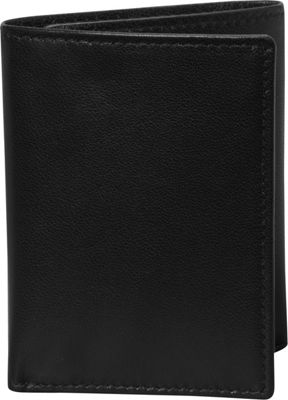 Budd Leather Nappa Soft Leather Trifold Wallet Black - Budd Leather Men's Wallets